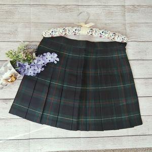 American Apparel Tennis Skirt Plaid Green